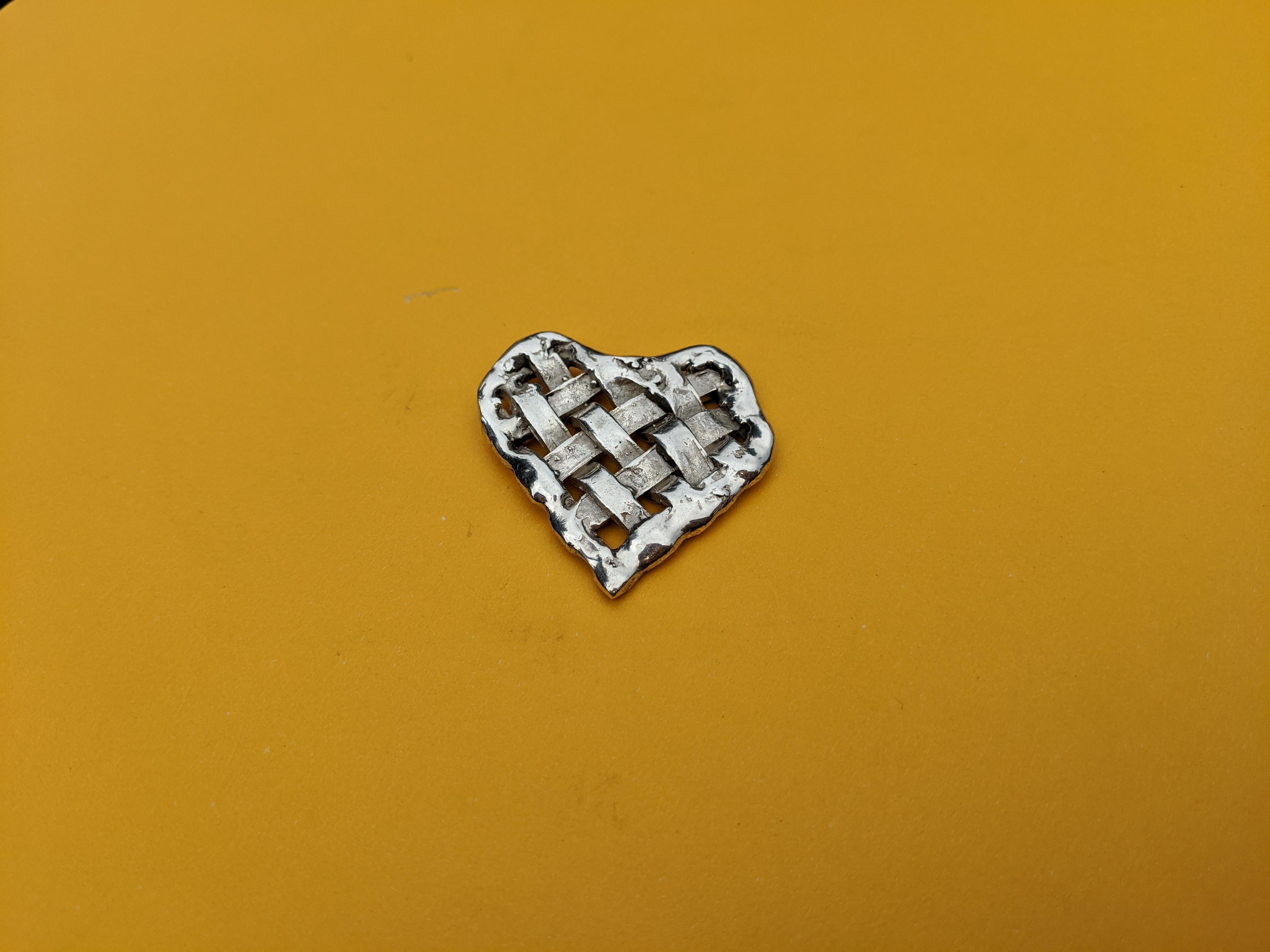 Woven Silver Heart Pendant