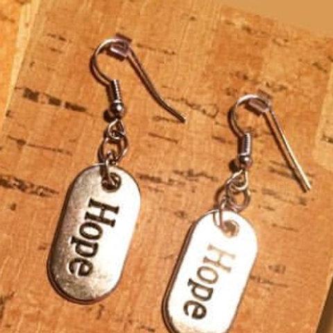 Large Metal Word Earrings