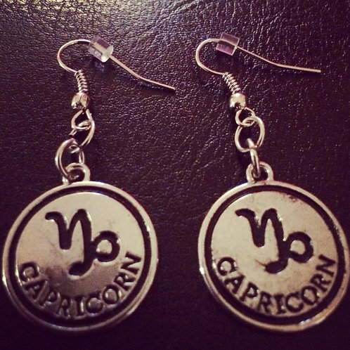 Metal Zodiac Earrings