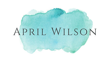 April Wilson - aqua watercolor logo - fr