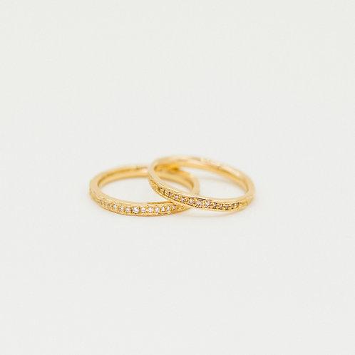 "Ring ""Ahornrinde"" schmal"