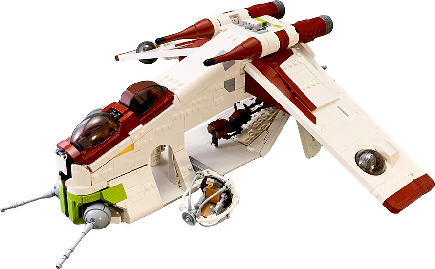 Republic Gunship (LAAT/i) (with Speeder Bike)