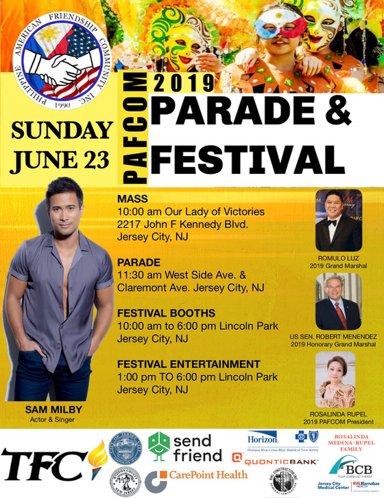 The 29th PAFCOM Friendship Parade and Festival is set Sunday June 23 at Jersey City, NJ in celebrati