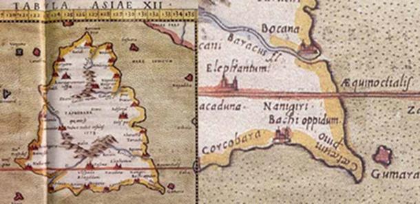 Карта Bachi oppidum Птолемея.