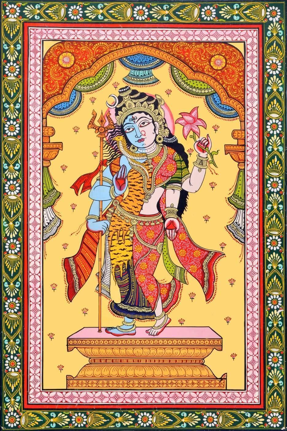 Ардханаришвара. Классическое изображение.