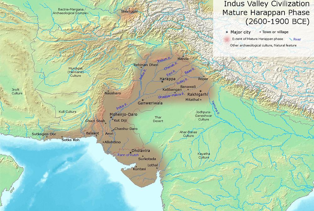 Цивилизация Долины Инда времён развитого хараппского периода.