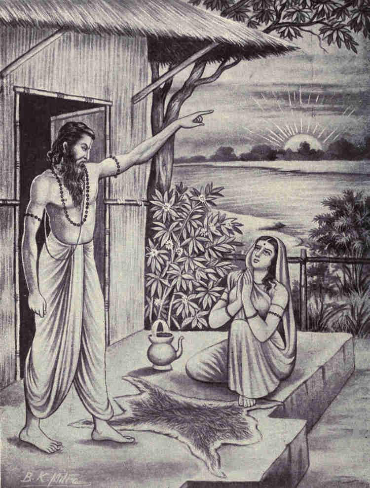 Мудрец Джараткару покидает жену.