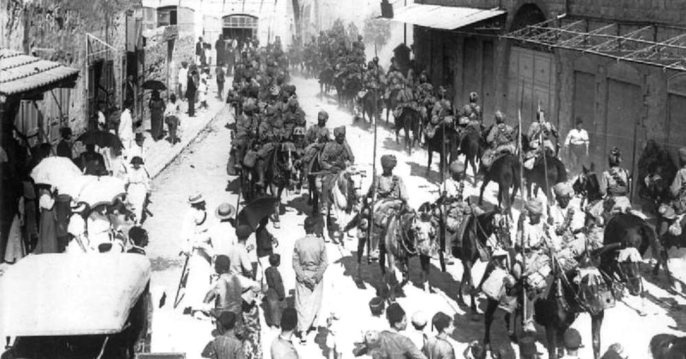 Индийские кавалеристы в Хайфе.