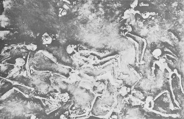 Скелетные останки в Мохенджо-Даро.