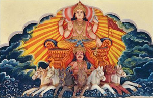 Бог Солнца Сурья - учитель Ханумана.