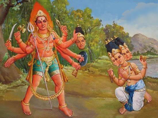 Бхайрава отрубает голову Брахме