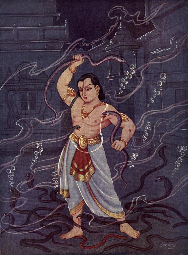 Бхима на Нагалоке.