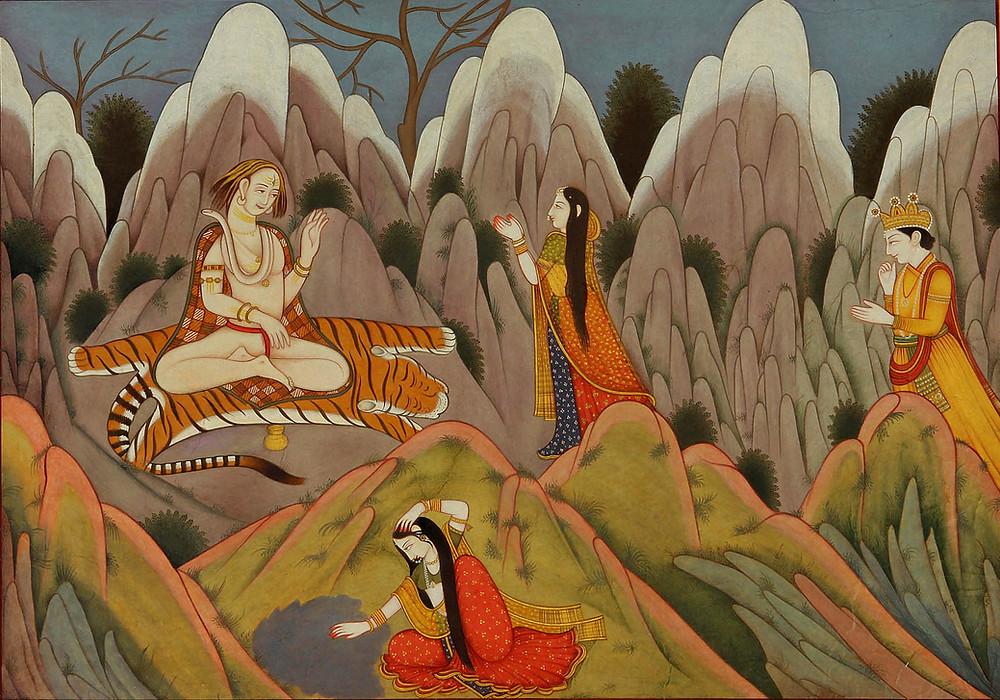 Господь Шива на Кайласе.