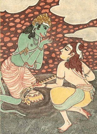 Музыкальное состязание Ханумана и Нарады.