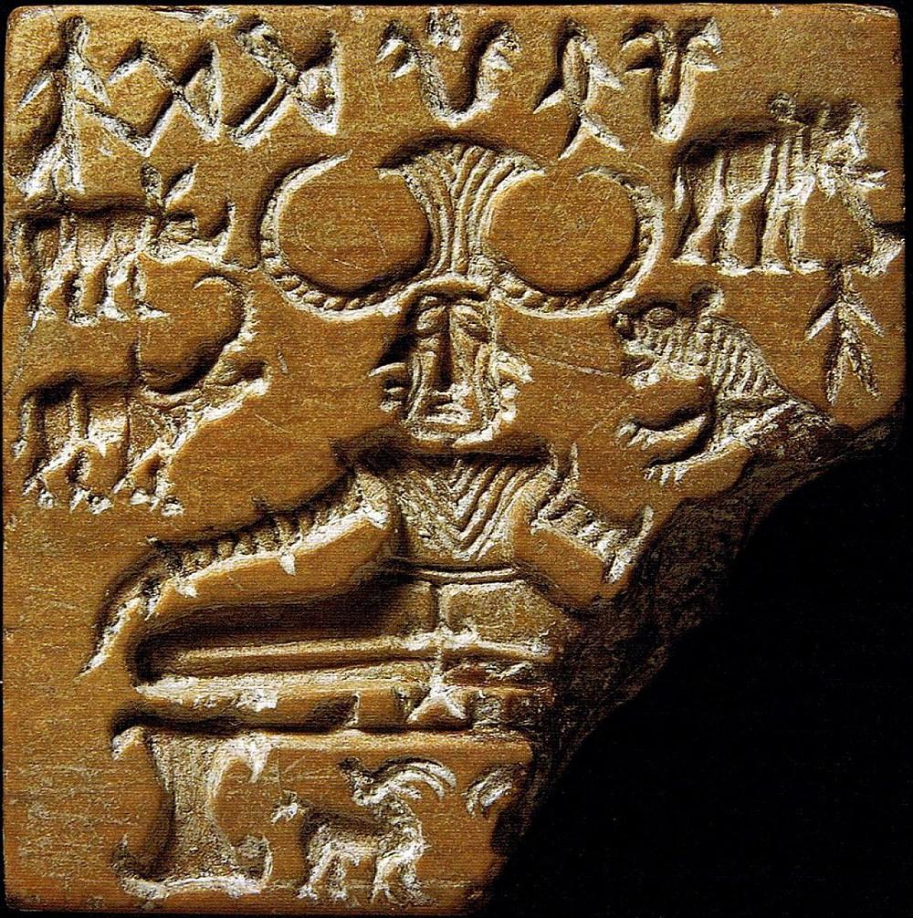 Печать времён Цивилизации Долины Инда, предположительно изображающая Пашупати.