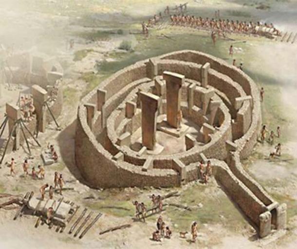 Лингам храма Гобекли Тепе, древней родины езидов на юге Турции.