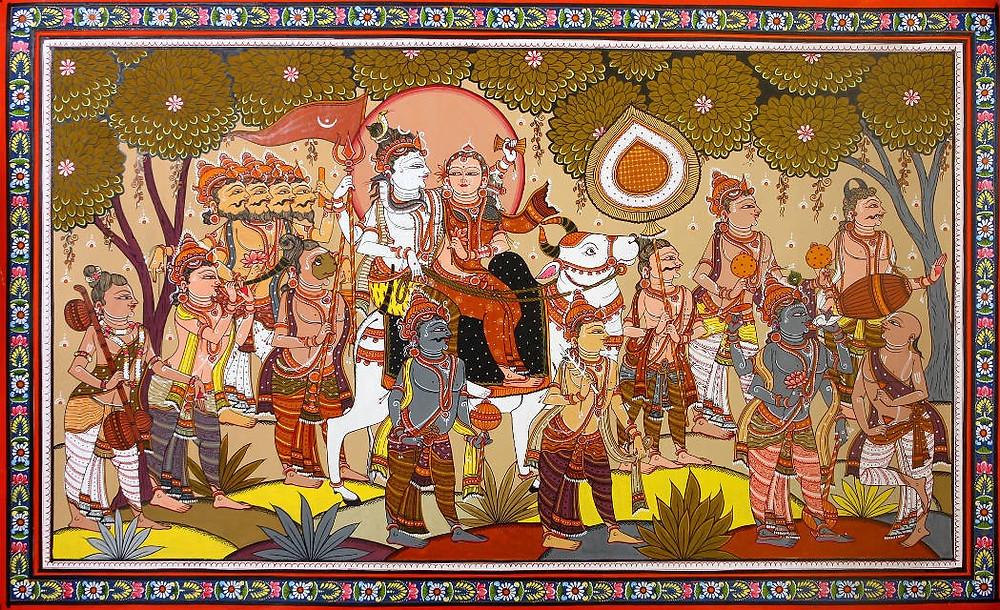 Свадебная процессия Шивы и Парвати