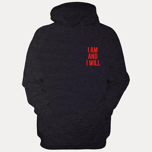 I AM Black & Red Hoodie