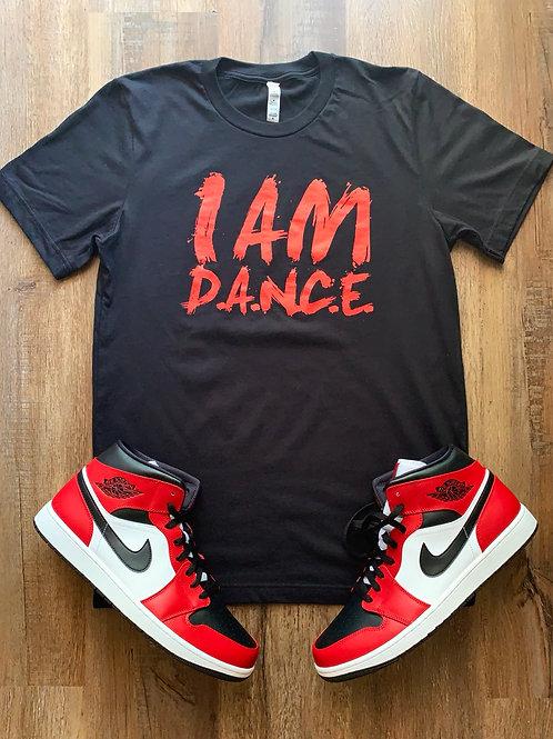 classic black & Red I Am D.A.N.C.E. T-Shirt
