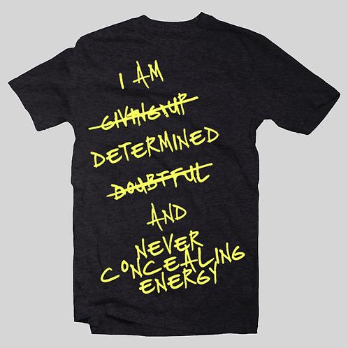 I Am Black & Yellow Crewneck T-shirt