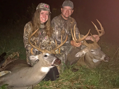 Quality Time: Father, Daughter Arrow Bucks while Sharing Stand