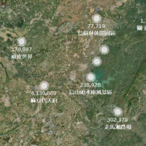 【CSR】數據視覺|台南市特色景點到訪人數