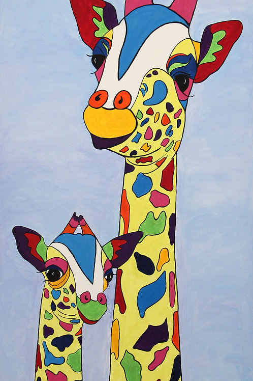 Giraffes. Gilly and Son George!