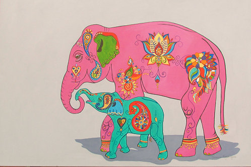 Asian Elephants. Rani and Flo! (see About)