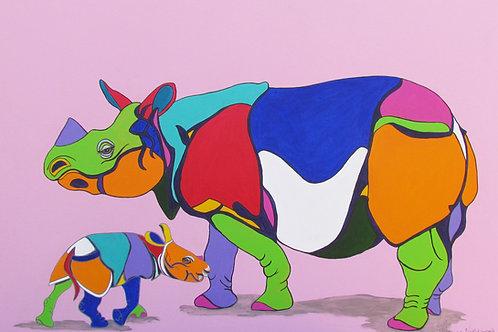 Rhino. Rosie and Son Robert