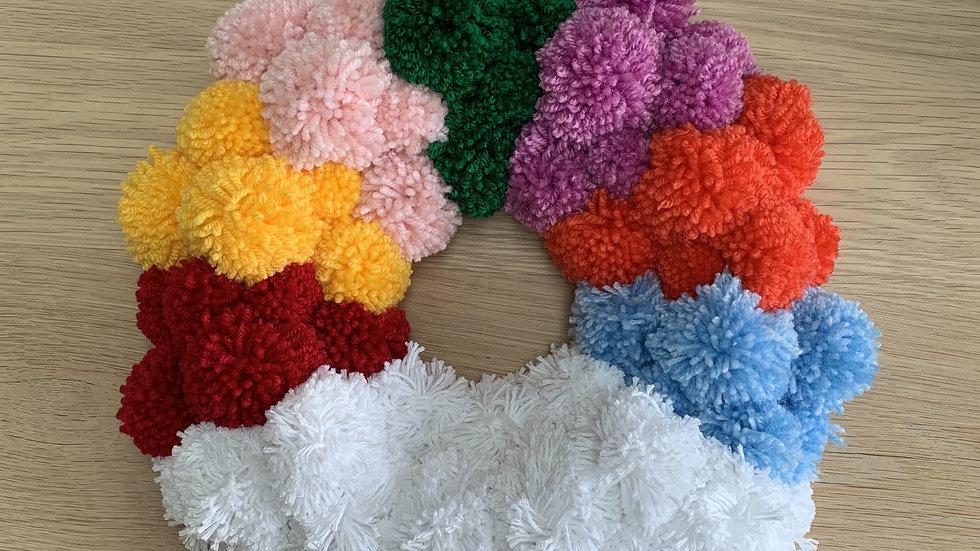 Rainbow Cloud Wreath