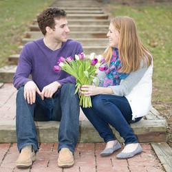 Engagement photos on location