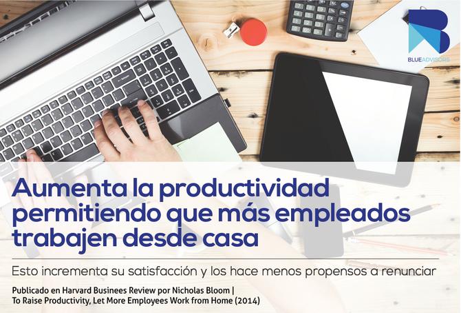 Aumenta la productividad permitiendo que más empleados trabajen desde casa