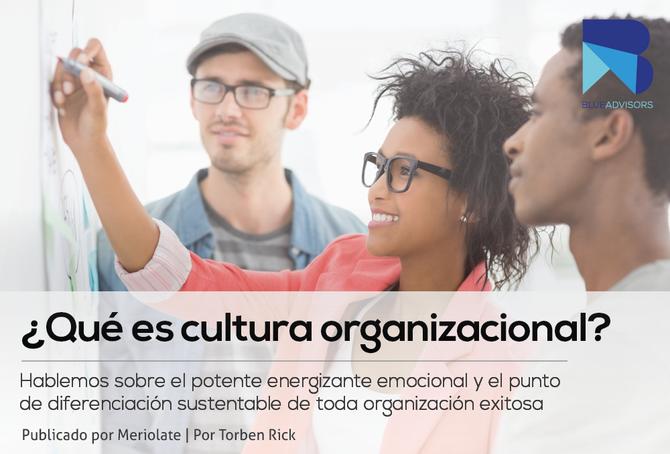 ¿Qué es cultura organizacional?