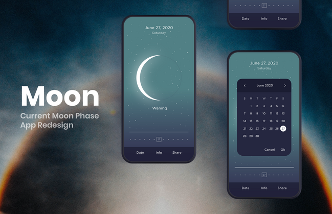 MOON - CURRENT MOON PHASE APP