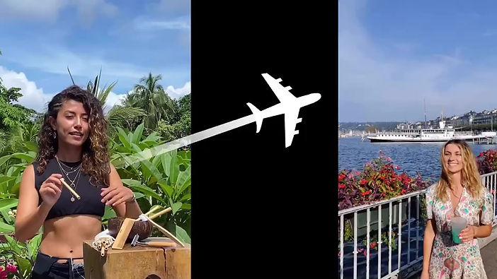 Le voyage d'une paille en bambou de Bangkok à Genève