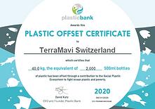 Plastic Bank Certificate