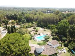 vue aerienne piscine golf