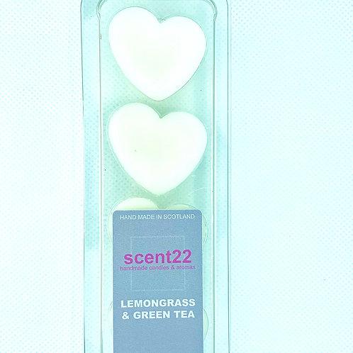 scent22 wax melt LEMONGRASS & GREEN TEA  4pk