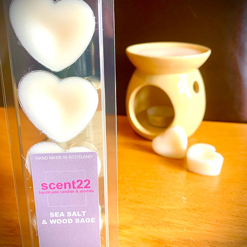 scent22 wax melt SEASALT &  WOODSAGE 4pk