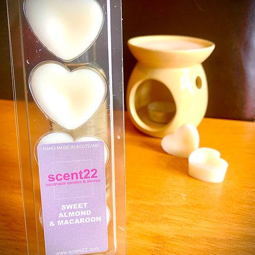 scent22 wax melt SWEET ALMOND & MACAROON 4pk