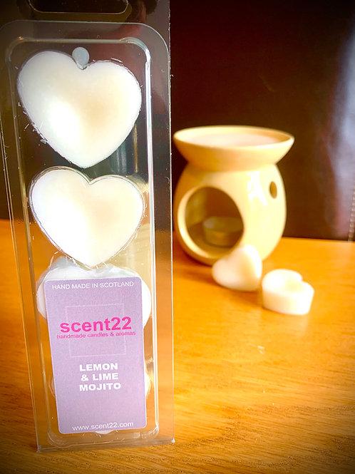 scent22 wax melt LEMON & LIME MOJITO  4pk