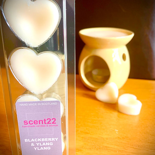 scent22 wax melt BLACKBERRY & YLANG YLANG   4pk