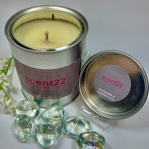 scent22 aroma candle Rhubarb & Ginger Gin