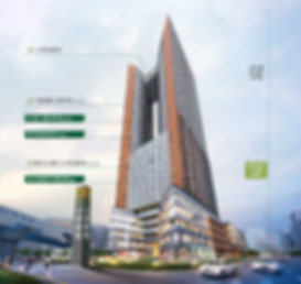 지상 2층 리테일 & F&B 뷰티, 패션, 디저트 카페, 지상 3층 캐쥬얼 다이닝, 지상 4층 의료, 지상 5층  교육