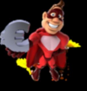 stamp hero save mascot