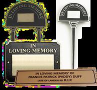 memoriam signs