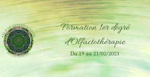 Formation 1er degré d'Olfactothérapie (Belgique) du 19 au 21/02/2021