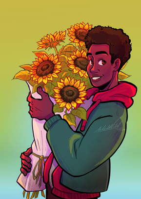 Miles Morales Sunflowers for insta.png