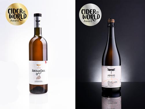 Abavas vīna darītava ieguvusi zelta medaļas Cider world 2021