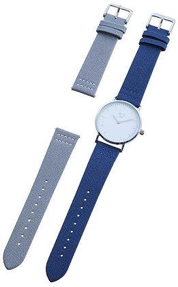 Unisex Armbanduhr mit Wechselarmband